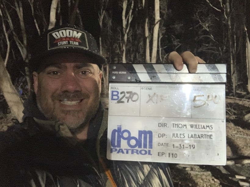 Thom Williams with Doom Patrol slate